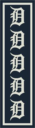 "Detroit Tigers 2' 1"" x 7' 8"" Team Repeat Area Rug Runner"