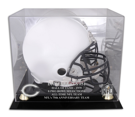 Dick Butkus Chicago Bears Hall of Fame 1979 Golden Classic Helmet Case