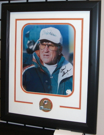 "Don Shula Autographed Miami Dolphins 8"" x 10"" Custom Framed Photograph"