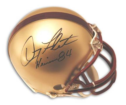 "Doug Flutie Boston College Eagles Autographed Mini Helmet Inscribed with ""Heisman 84"