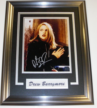 "Drew Barrymore Autographed 8"" x 10"" Custom Framed Photograph"
