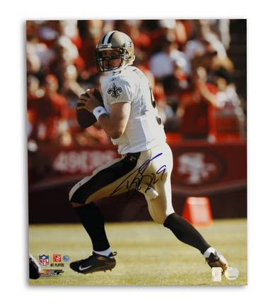 "Drew Brees New Orleans Saints Autographed 16"" x 20"" Unframed Photograph"