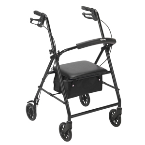 Drive Medical Drive-Medical-R800BK Rollator with 6 in. Wheels - Black