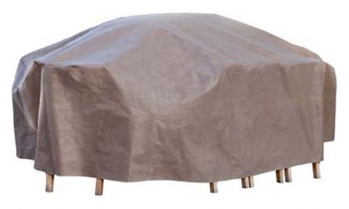 "Duck Covers Patio Rectangle Table and Chair Set Cover with Duck Dome (127""L x 84""W x 29""H)"