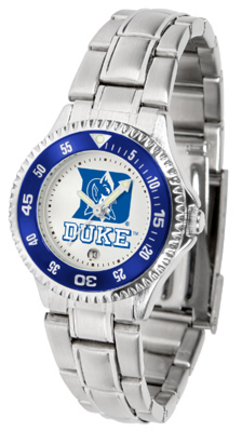 Duke Blue Devils Competitor Ladies Watch with Steel Band