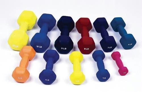 Dumbell Weight Color Neoprene Coated 12 Lb