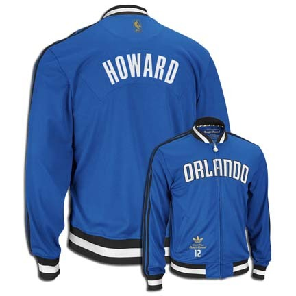 Dwight Howard Orlando Magic #12 NBA Legendary Current Player Jacket from Adidas (Blue)