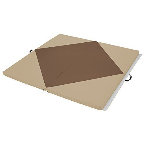 Early Childhood Resources ELR-12205-CHSD 4 x 4 in. SoftZone Diamond Play Mat Chocolate & Sand