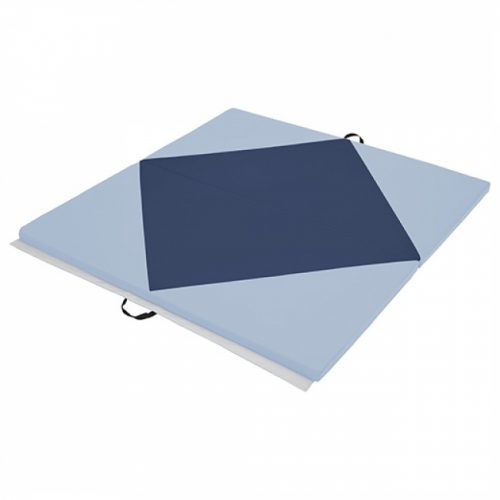 Early Childhood Resources ELR-12205-NVPB 4 x 4 in. SoftZone Diamond Play Mat Navy & Powder Blue