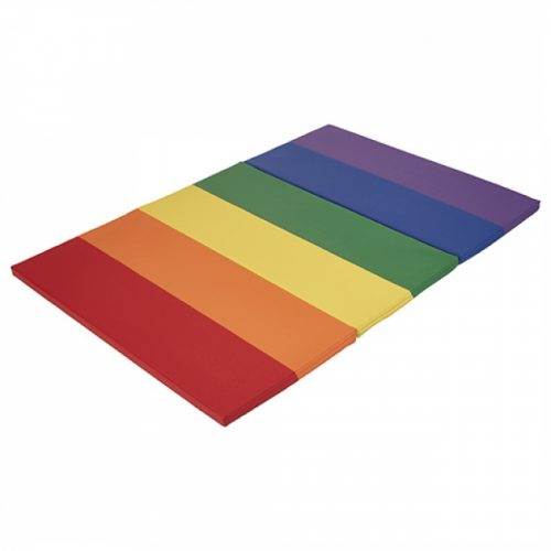 Early Childhood Resources ELR-12207-AS 4 x 6 in. SoftZone Rainbow Runway Tumbling Mat Primary