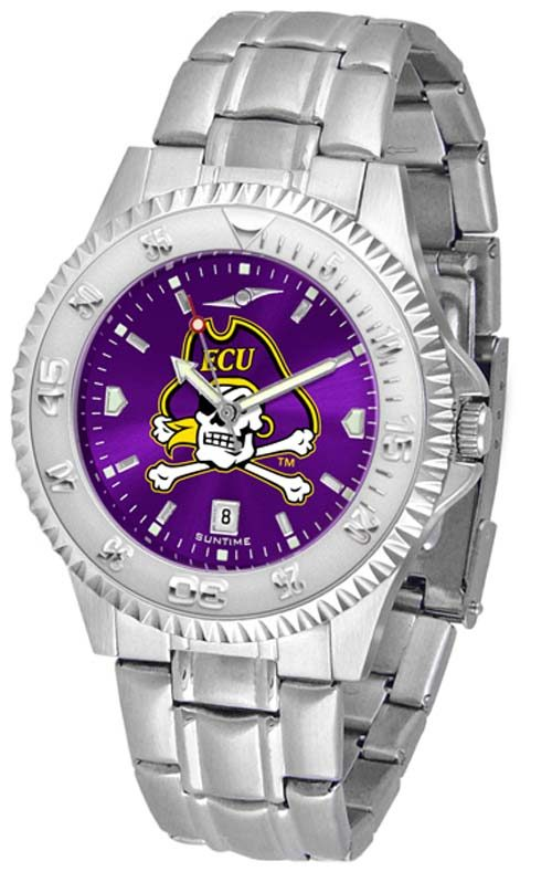 East Carolina Pirates Competitor AnoChrome Men's Watch with Steel Band