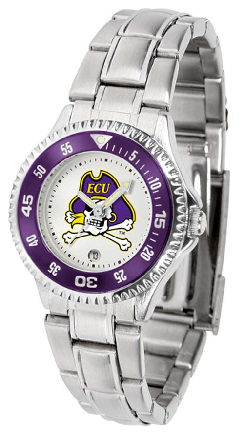 East Carolina Pirates Competitor Ladies Watch with Steel Band