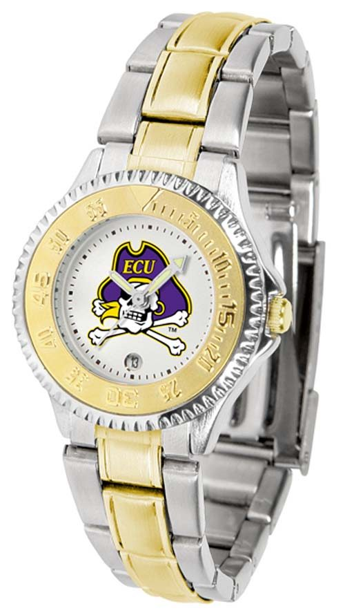 East Carolina Pirates Competitor Ladies Watch with Two-Tone Band