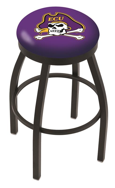"East Carolina Pirates (L8B2B) 30"" Tall Logo Bar Stool by Holland Bar Stool Company (with Single Ring Swivel Black Solid Welded Base)"