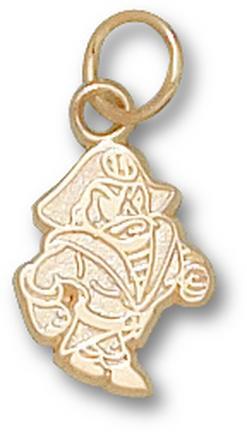 "East Carolina Pirates ""Petey"" 1/2"" Charm - 14KT Gold Jewelry"