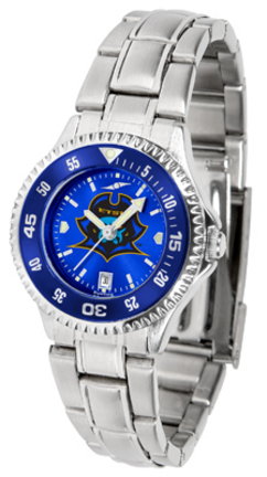 East Tennessee State Buccaneers Competitor AnoChrome Ladies Watch with Steel Band and Colored Bezel