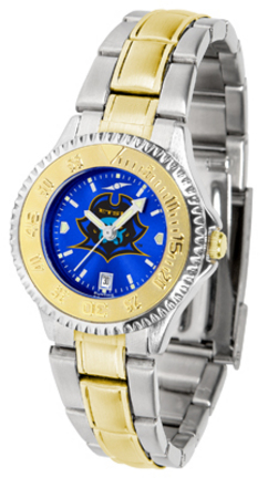 East Tennessee State Buccaneers Competitor AnoChrome Ladies Watch with Two-Tone Band