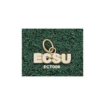 "Eastern Connecticut State Warriors ""ECSU"" 3/16"" Charm - 14KT Gold Jewelry"