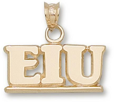"Eastern Illinois Panthers ""EIU"" 5/16"" Pendant - 10KT Gold Jewelry"