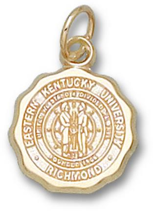 "Eastern Kentucky Colonels 1/2"" ""Seal"" Charm - 10KT Gold Jewelry"