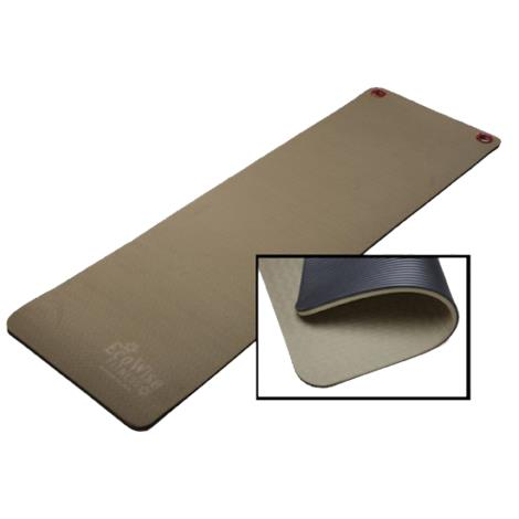 EcoWise 80303 0.5 x 24 x 72 in. Elite Workout & Fitness Mat with Eyelets - Black & Olive