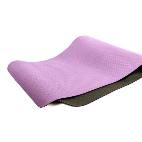 EcoWise 80401 0.25 x 24 x 72 in. Elite Yoga Mat Black & Purple