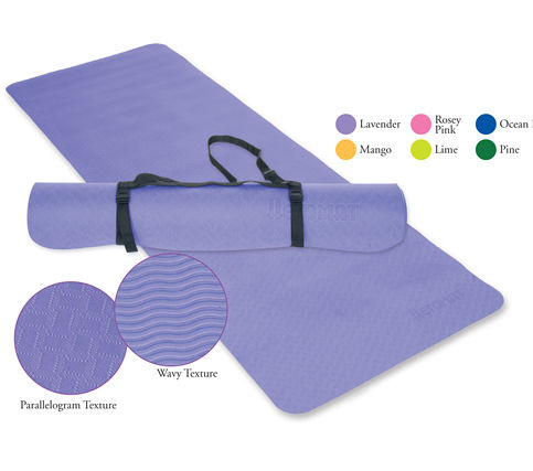Ecowise 80103 Essential Yoga and Pilates Mat- Lavender