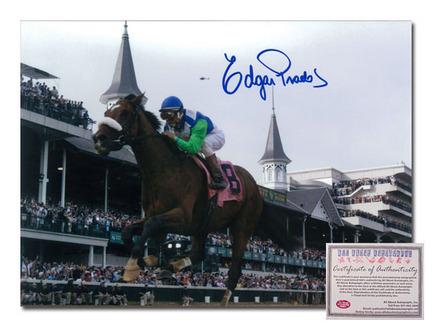 "Edgar Prado Barbaro Horse Racing ""2006 Kentucky Derby Side View"" Autographed 11"" x 14"" Photograph"