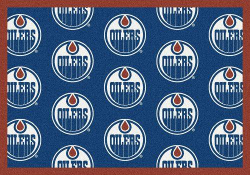 "Edmonton Oilers 2' 1"" x 7' 8"" Team Repeat Area Rug Runner"