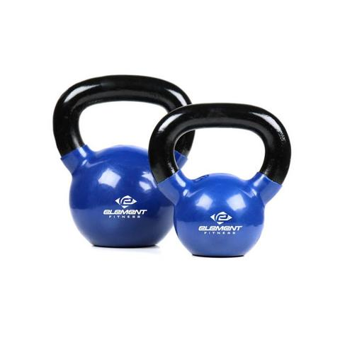 Element Fitness E-1236 Vinyl Kettle Bells - Blue & Black