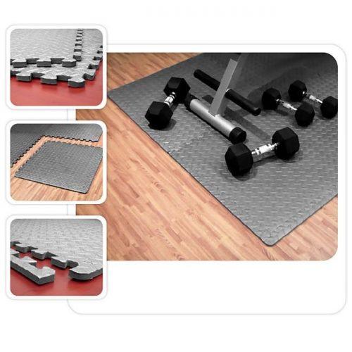 Element Fitness E-2536 24 x 24 x 0.5 in. Interlocking Floor Mats - Grey