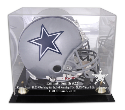 Emmitt Smith Dallas Cowboys 2010 Hall of Fame Golden Classic Helmet Case