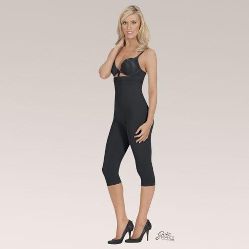 EuroSkins JFL19-B-S Julie France Leger High Waist Capri Legging Black - Small