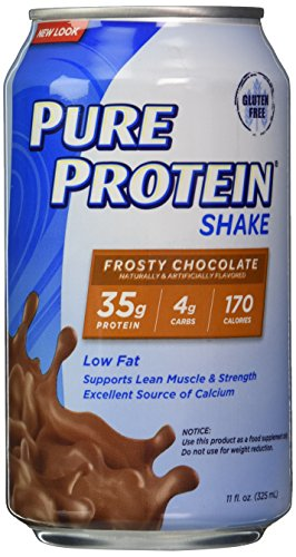 Europa Sports Products 440503 Pure Protein RTD Shake Chocolate - 12 Cans