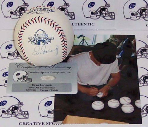 Evan Longoria Autographed 2009 All-Star Official Major League Baseball
