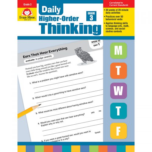 Evan-Moor EMC3273 Daily Higher-Order Thinking Grade 3