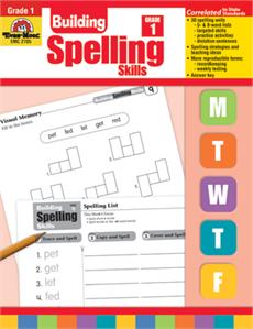 Evan-Moor Educational Publishers 2705 Building Spelling Skills Grade 1