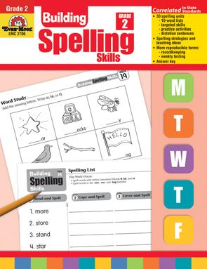 Evan Moor Educational Publishers 2706 Building Spelling Skills Grade 2