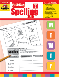 Evan-Moor Educational Publishers 2706 Building Spelling Skills Grade 2