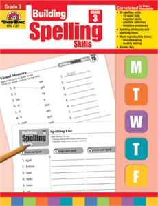 Evan-Moor Educational Publishers 2707 Building Spelling Skills Grade 3
