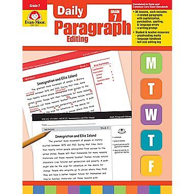 Evan-Moor Educational Publishers 2837 Daily Paragraph Editing Grade 7