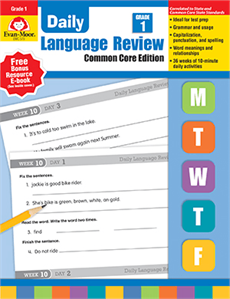 Evan-Moor Educational Publishers 579 Daily Language Review Common Core Edition Grade 1