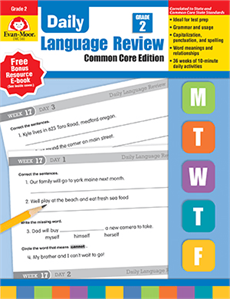 Evan-Moor Educational Publishers 580 Daily Language Review Common Core Edition Grade 2