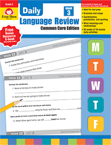 Evan-Moor Educational Publishers 581 Daily Language Review Common Core Edition Grade 3