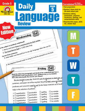 Evan Moor Educational Publishers 583 Daily Language Review Grade 5