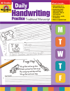 Evan-Moor Educational Publishers 790 Daily Handwriting Practice Traditional Manuscript