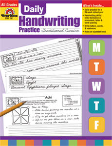 Evan-Moor Educational Publishers 791 Daily Handwriting Practice Traditional Cursive