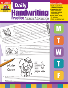 Evan-Moor Educational Publishers 792 Daily Handwriting Practice Modern Manuscript