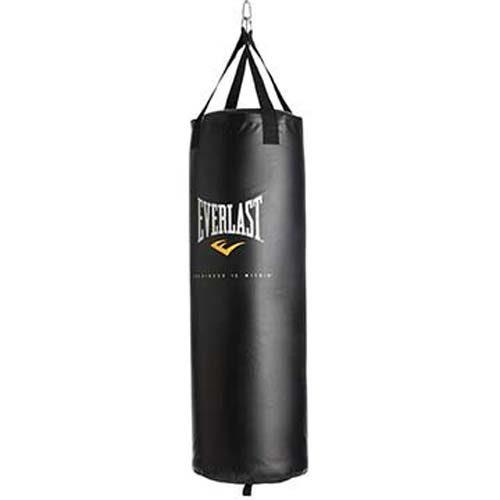 "Everlast Nevatear Fitness and Exercise 80 lbs ""Worldwide"" Heavy Bag - Black"