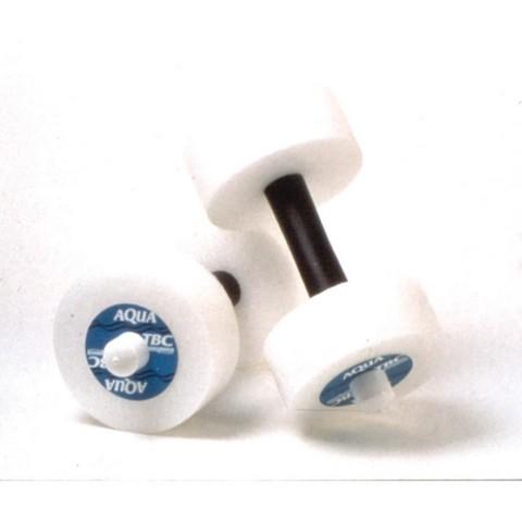Excel Sports Science JOG104 Aquajogger Aquafit Barbells Soft Padded Grip White - Set of 2